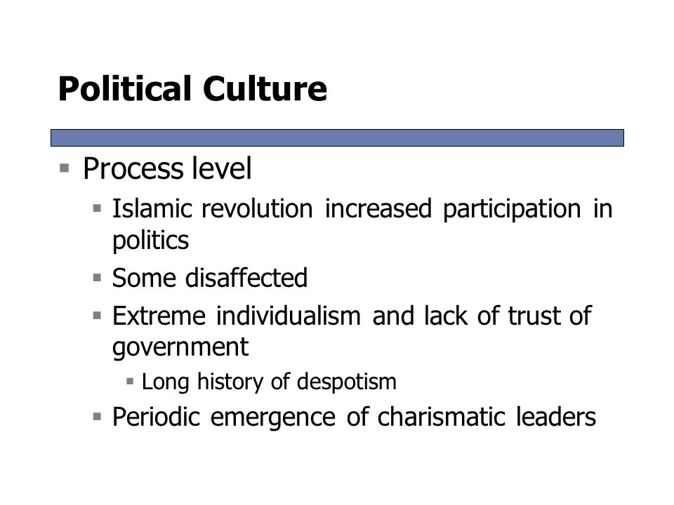 Political Culture Process level