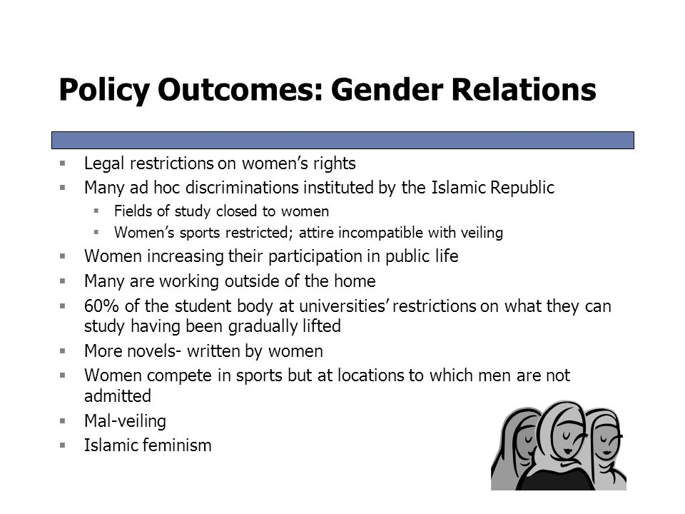Policy Outcomes: Gender Relations
