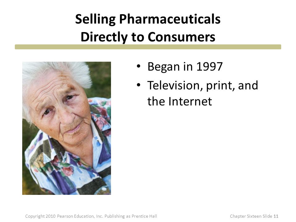 Selling Pharmaceuticals Directly to Consumers