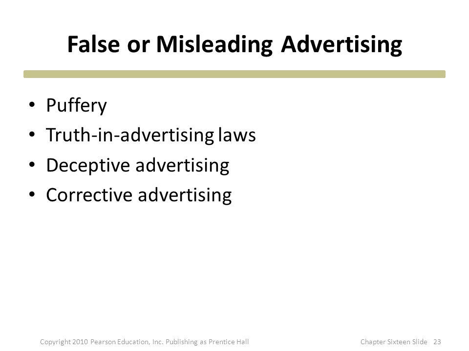 False or Misleading Advertising