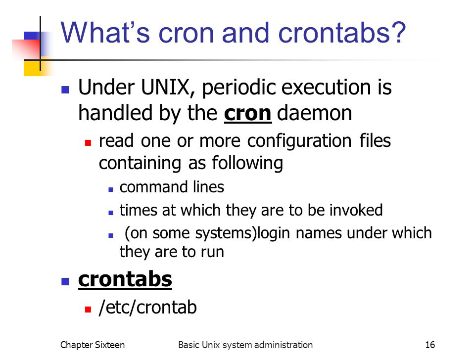 What's cron and crontabs