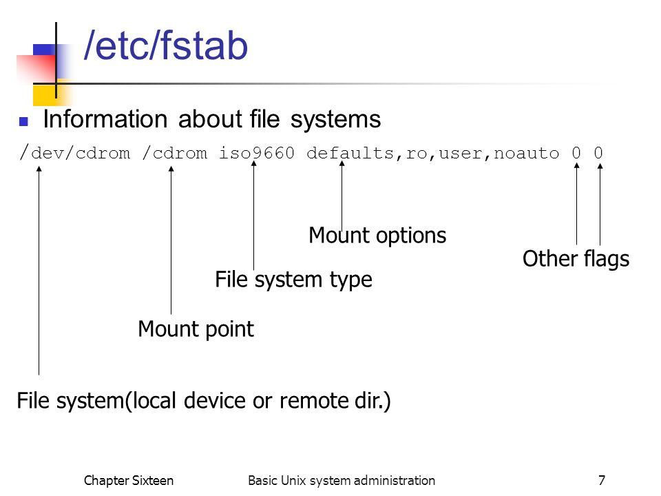 Basic Unix system administration