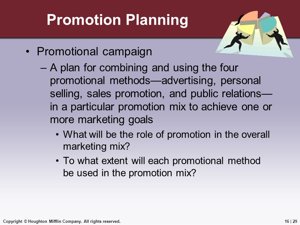 Promotion Planning Promotional campaign