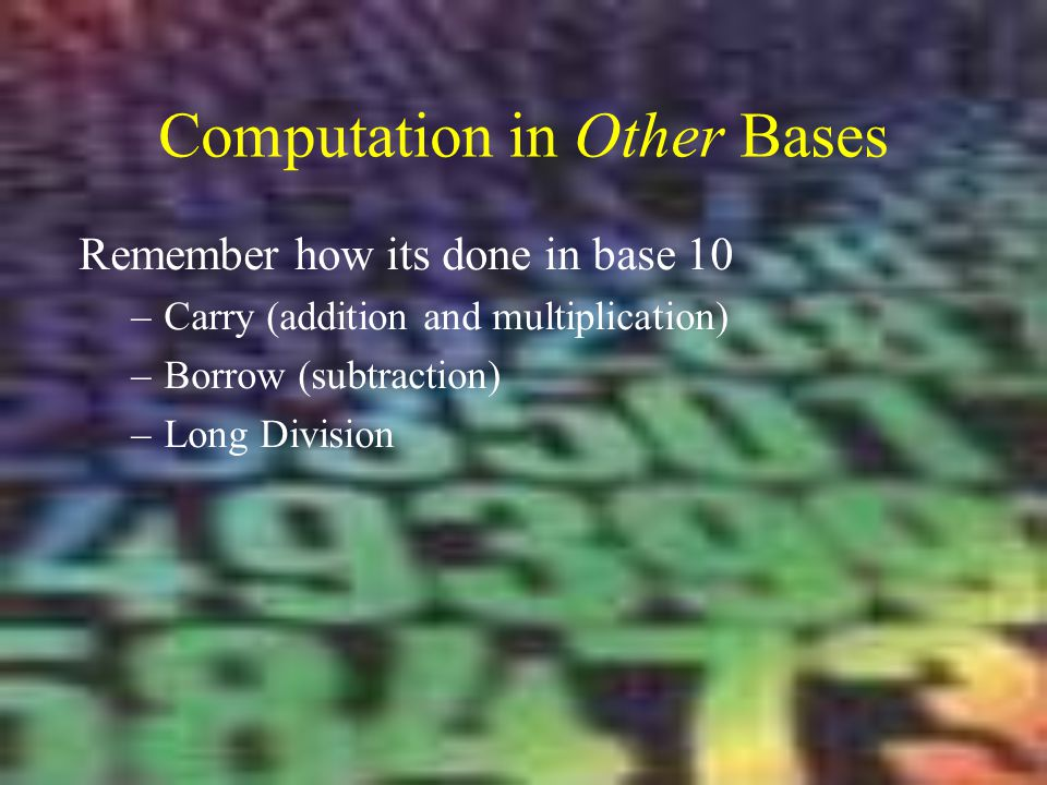 Computation in Other Bases