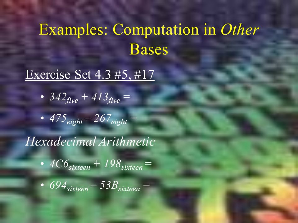 Examples: Computation in Other Bases