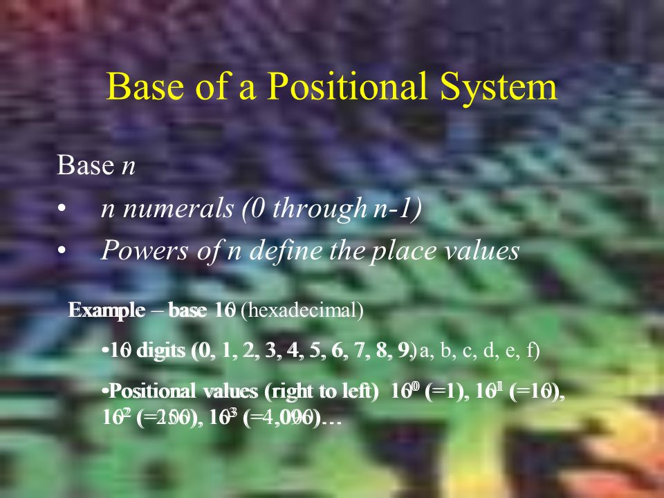 Base of a Positional System
