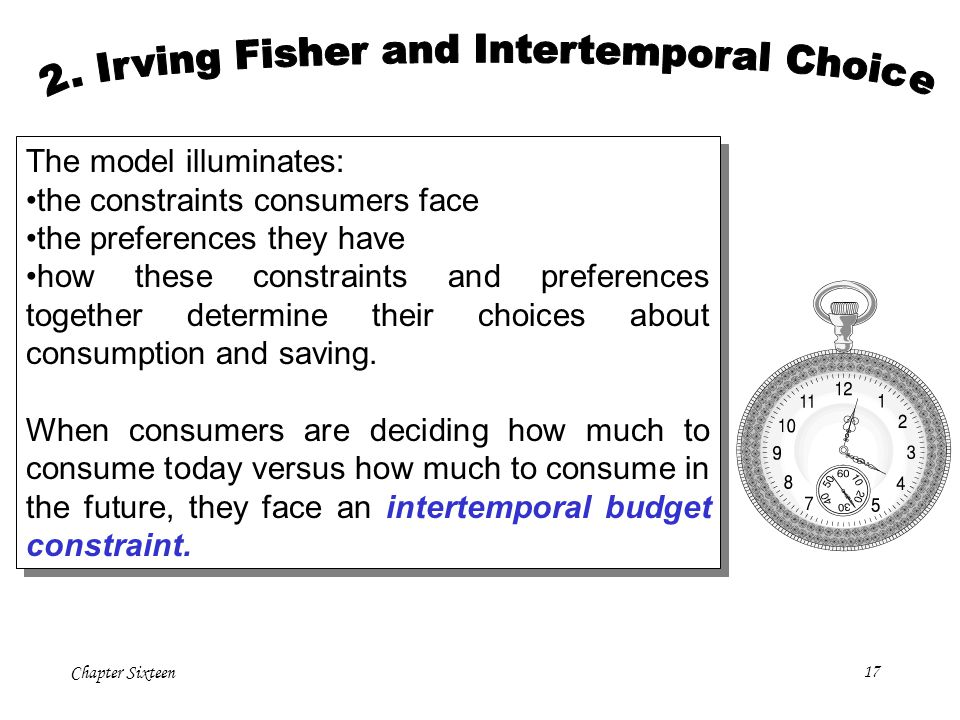 2. Irving Fisher and Intertemporal Choice