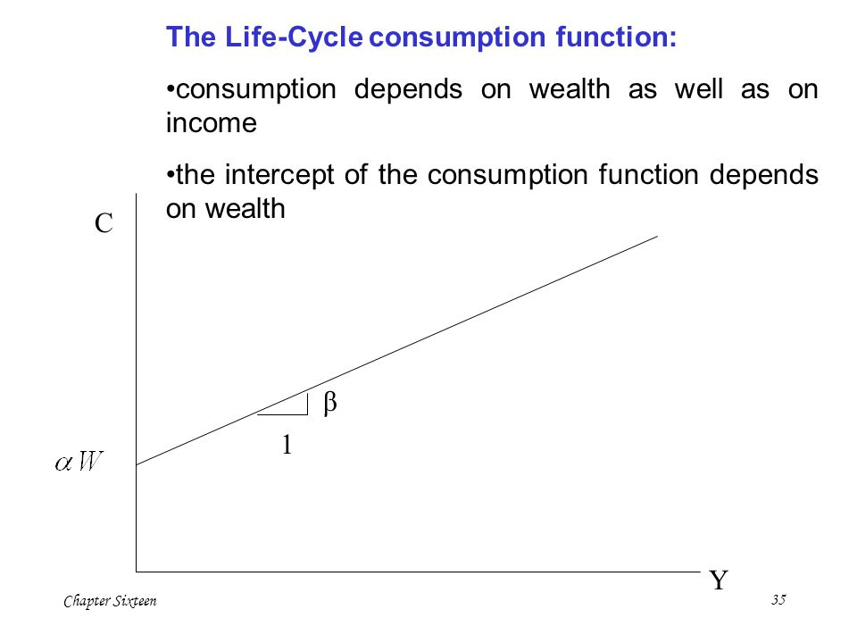 The Life-Cycle consumption function: