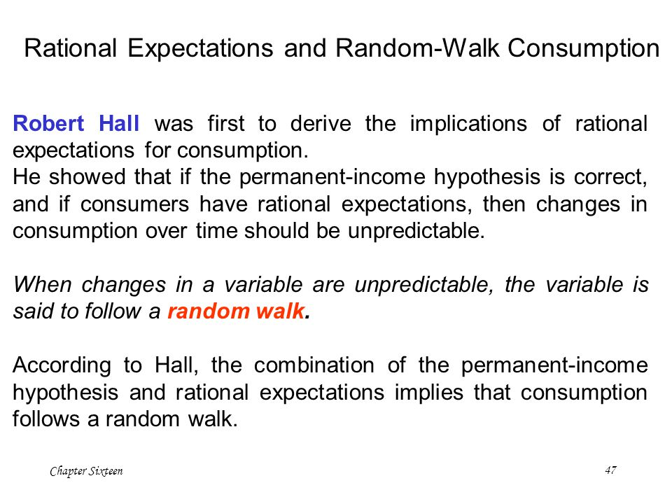 Rational Expectations and Random-Walk Consumption