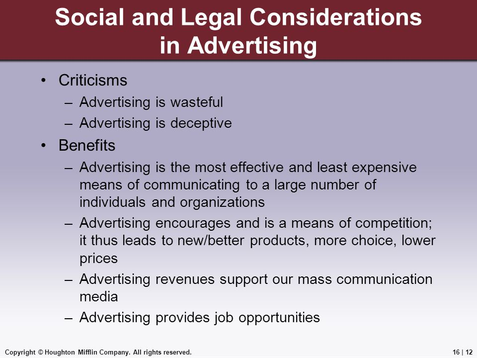 Social and Legal Considerations in Advertising