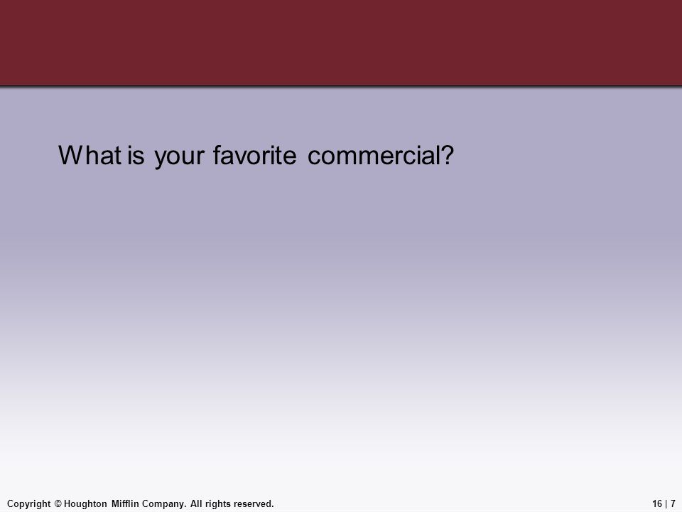 What is your favorite commercial