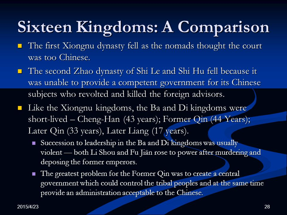Sixteen Kingdoms: A Comparison