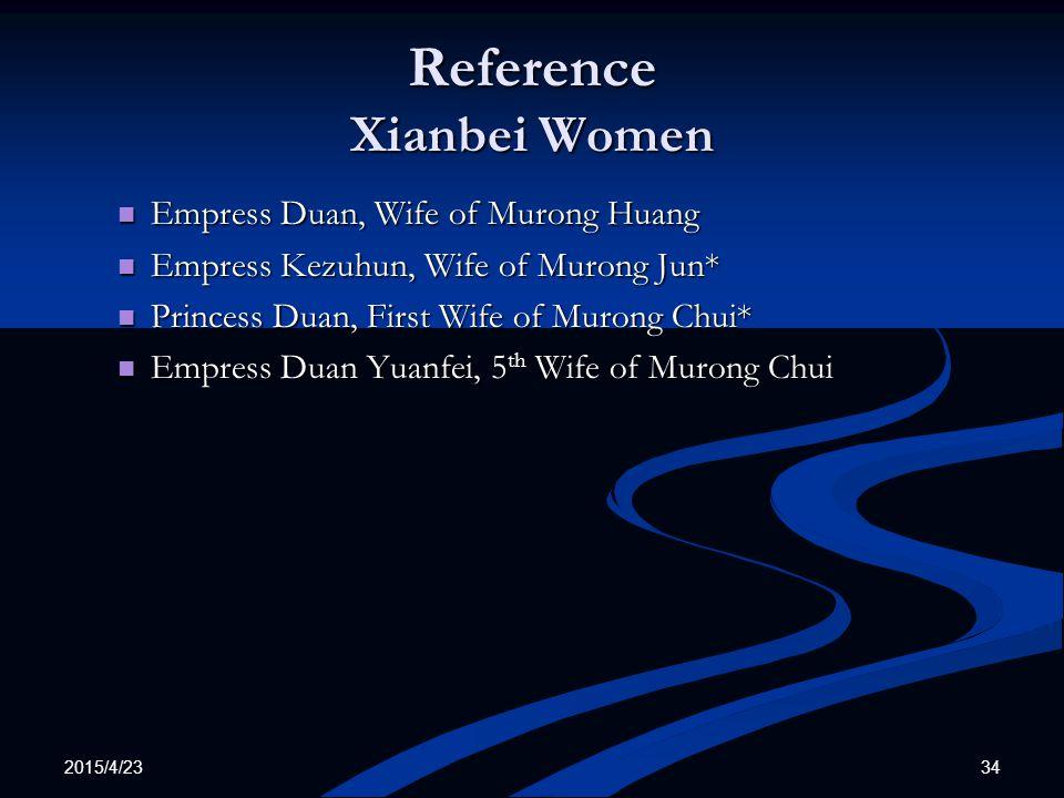 Reference Xianbei Women
