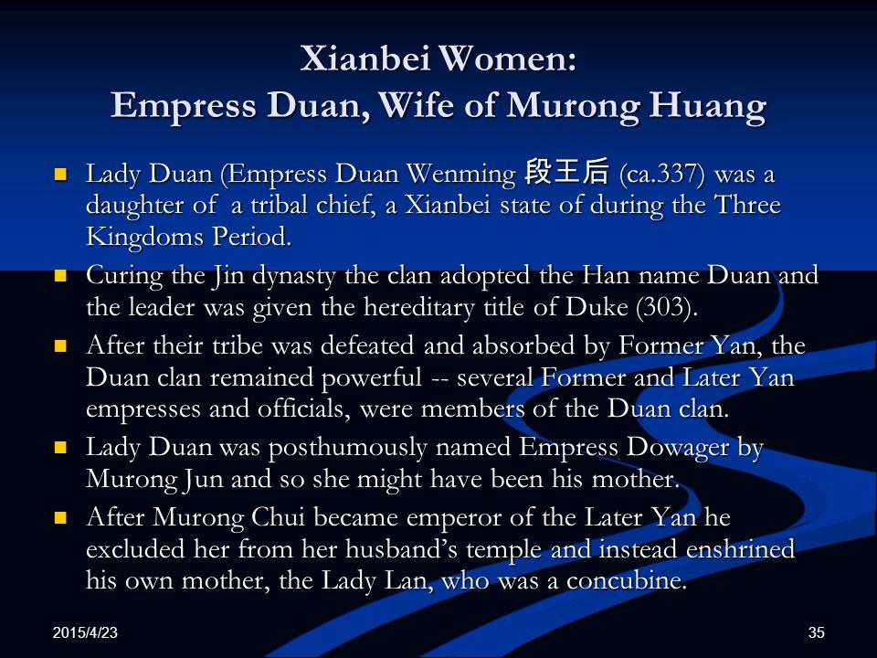 Xianbei Women: Empress Duan, Wife of Murong Huang
