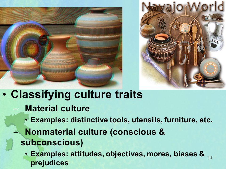 Classifying culture traits