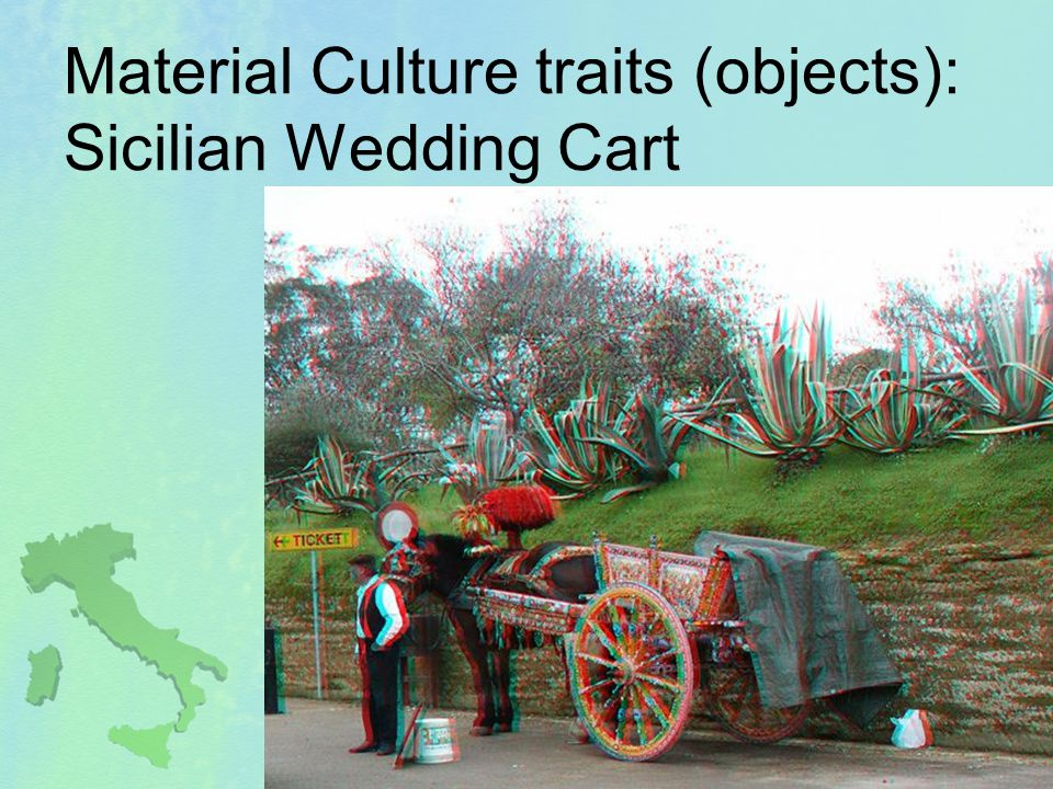 Material Culture traits (objects): Sicilian Wedding Cart