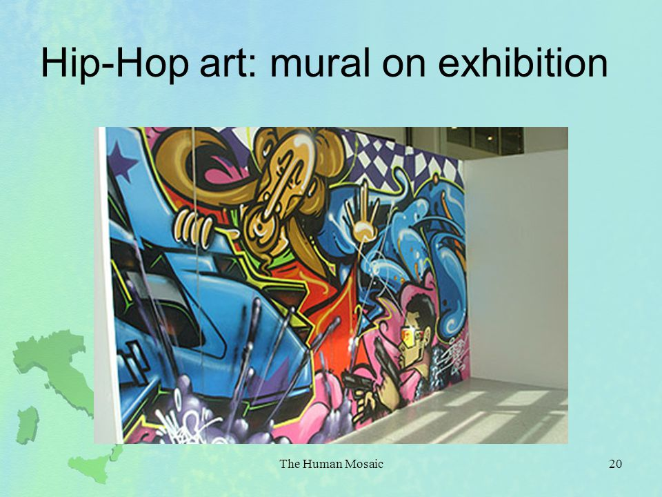 Hip-Hop art: mural on exhibition