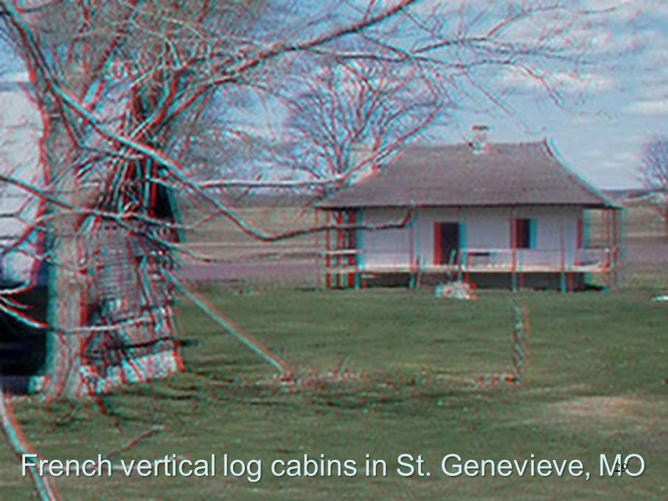 French vertical log cabins in St. Genevieve, MO