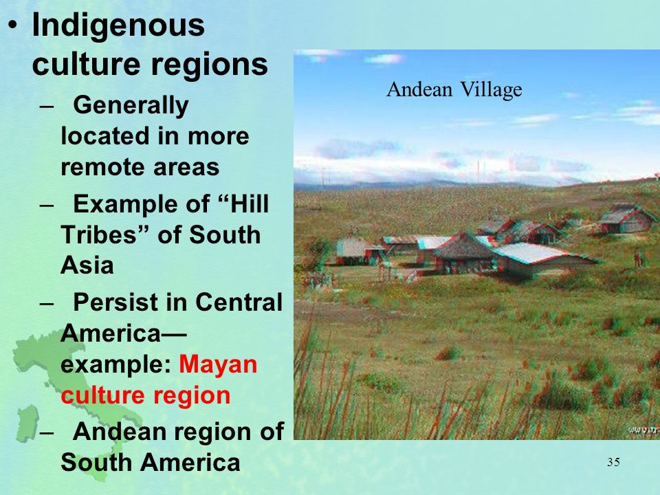 Indigenous culture regions