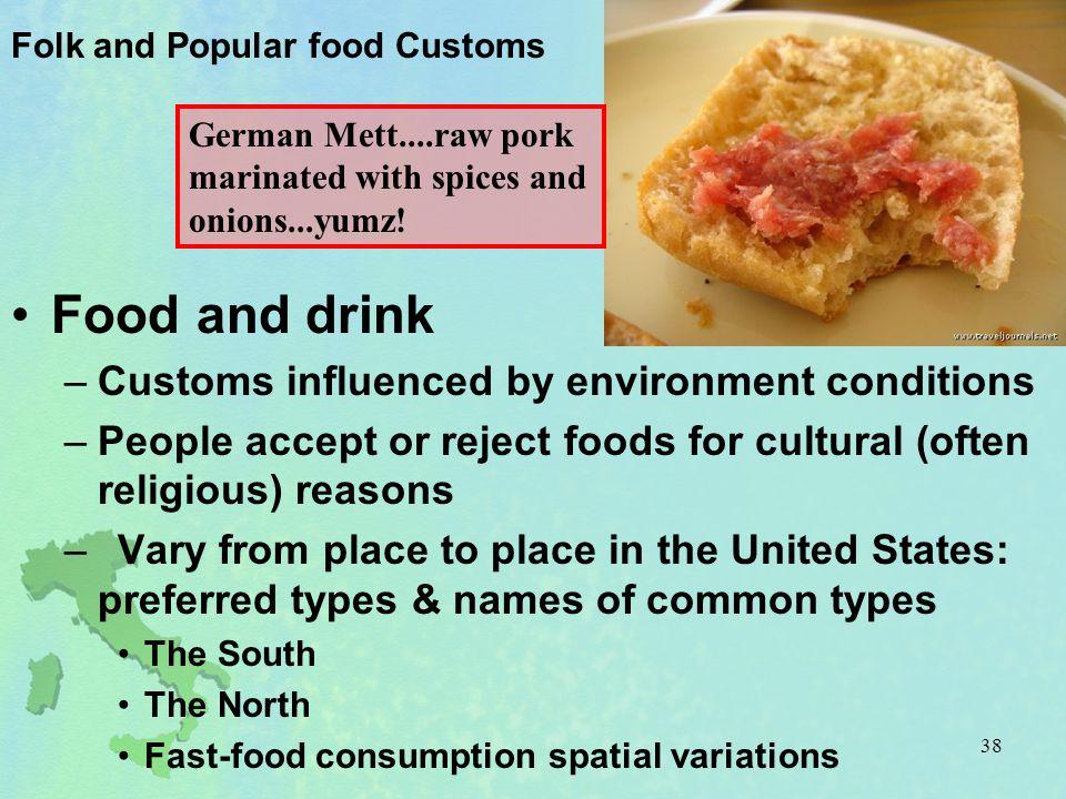 Folk and Popular food Customs