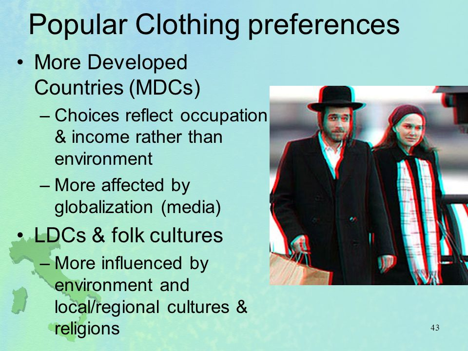 Popular Clothing preferences