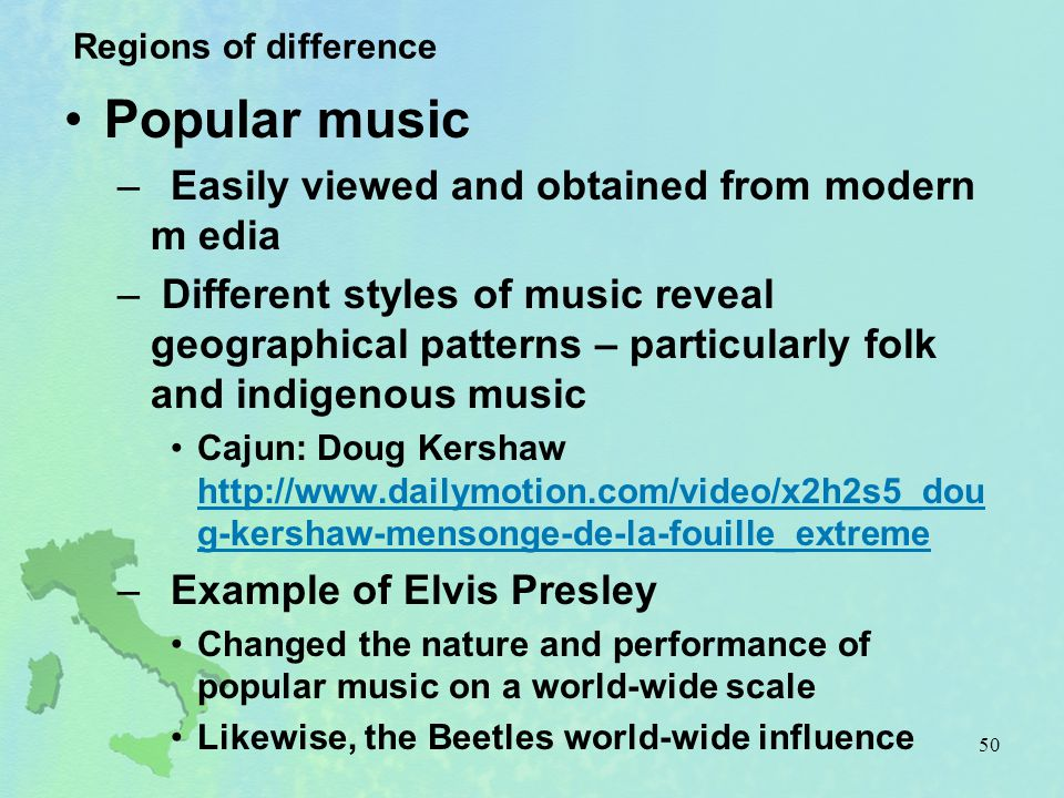 Popular music Easily viewed and obtained from modern m edia