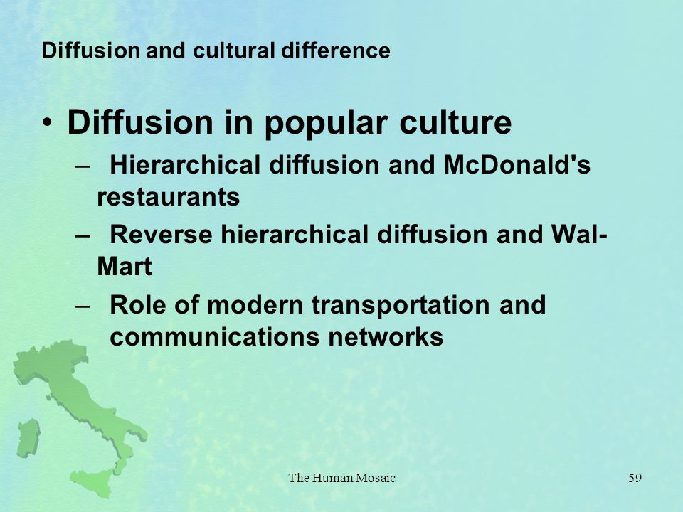 Diffusion and cultural difference