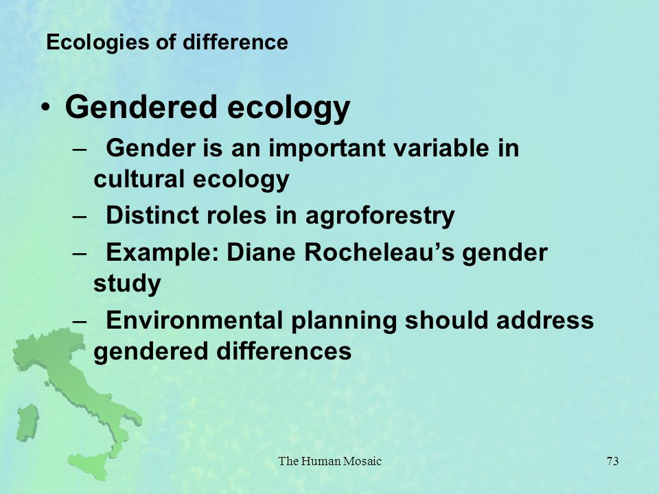 Ecologies of difference