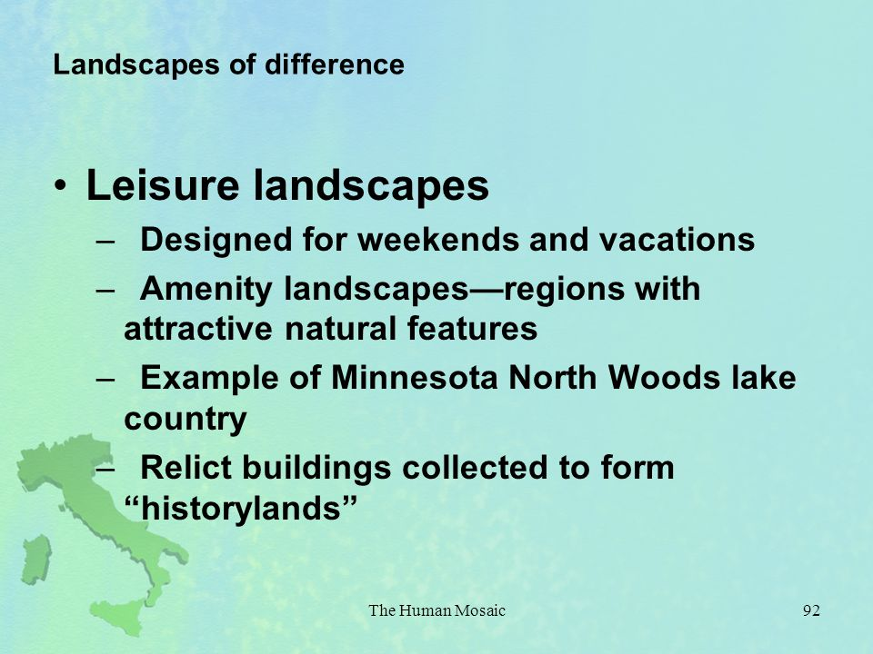 Landscapes of difference