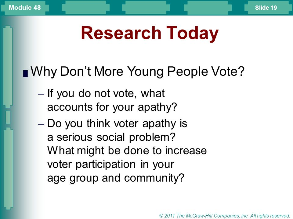 Research Today Why Don't More Young People Vote