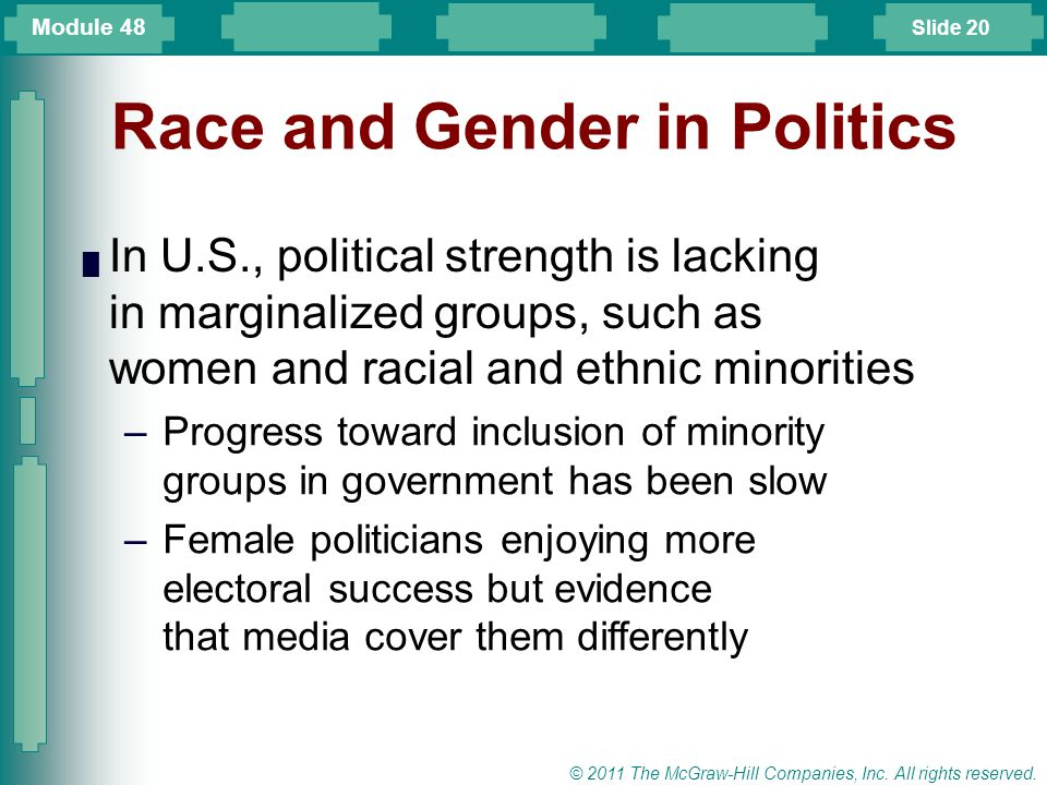 Race and Gender in Politics