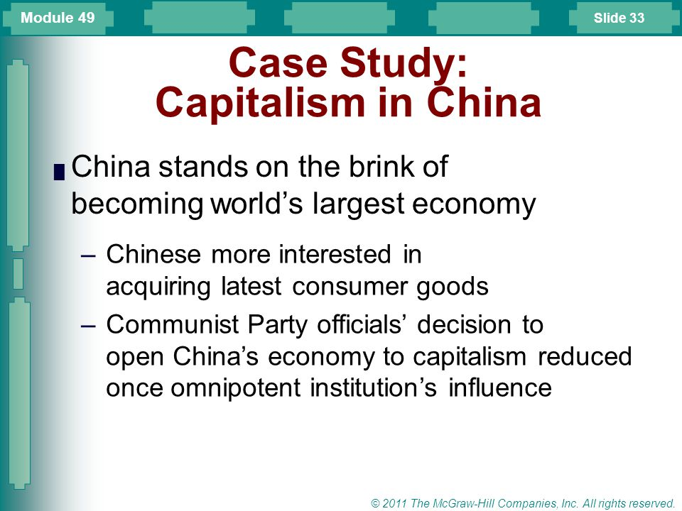 Case Study: Capitalism in China