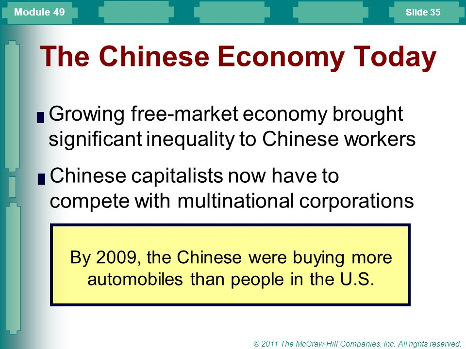 The Chinese Economy Today
