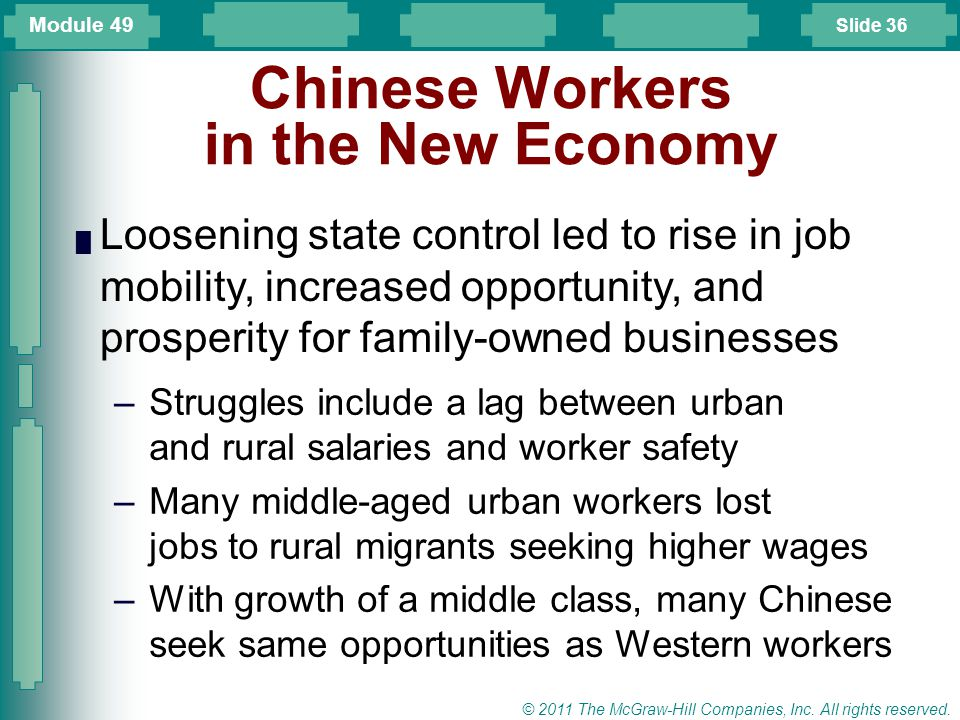 Chinese Workers in the New Economy