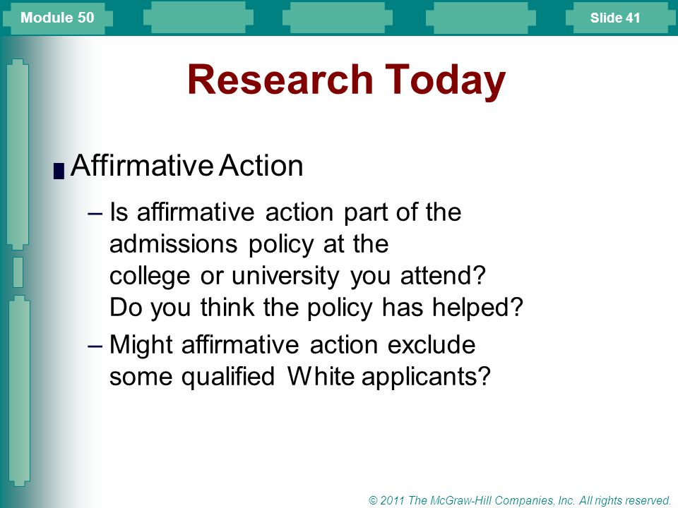 a research on affirmative action Research room - articles and essays on multicultural education, diversity, and  social  the current debate over affirmative action, like all other hotly contested.