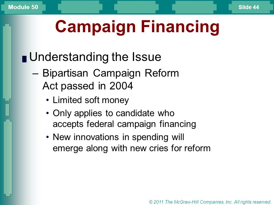 Campaign Financing Understanding the Issue