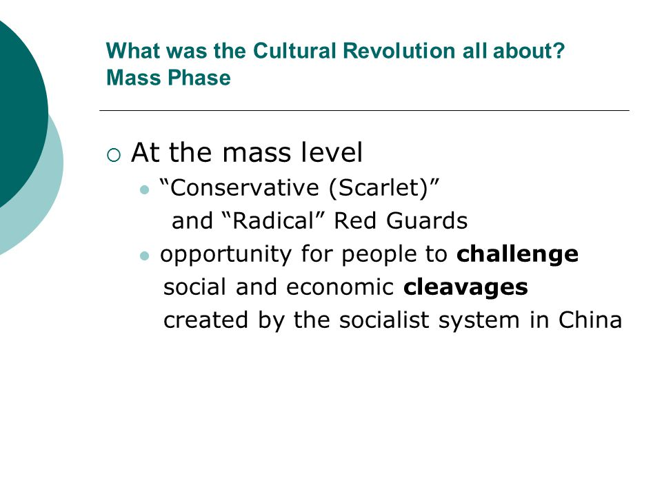 What was the Cultural Revolution all about Mass Phase
