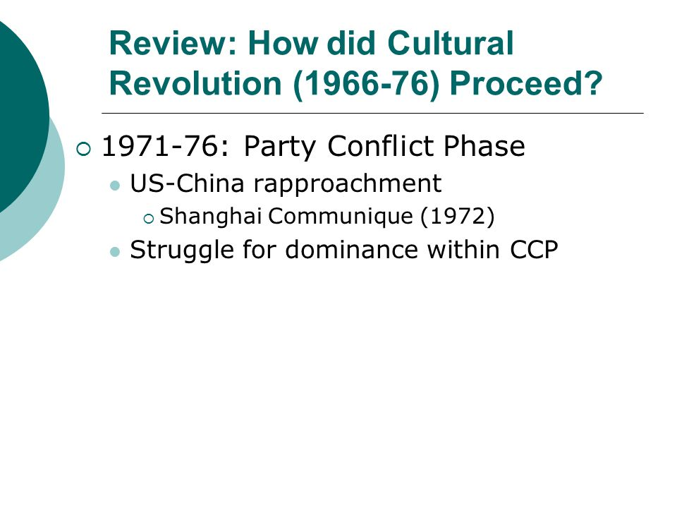 Review: How did Cultural Revolution (1966-76) Proceed