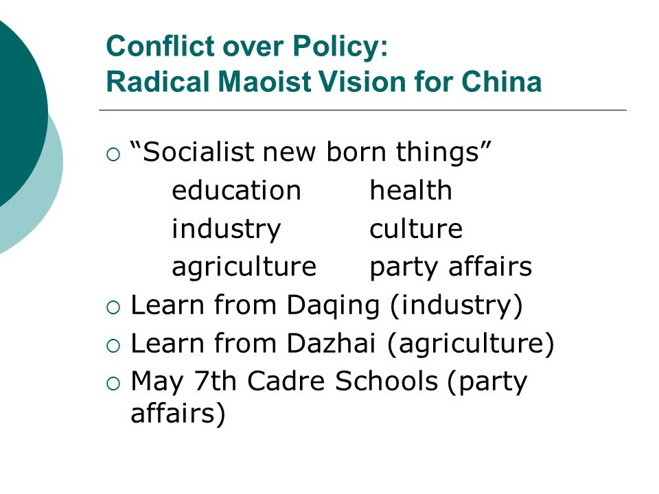 Conflict over Policy: Radical Maoist Vision for China