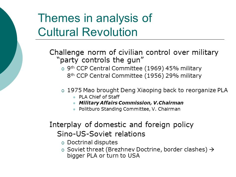 Themes in analysis of Cultural Revolution