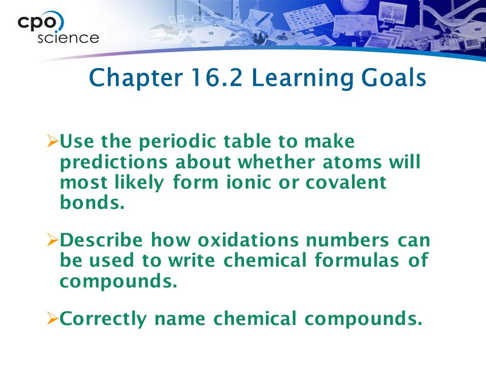 Chapter 16.2 Learning Goals