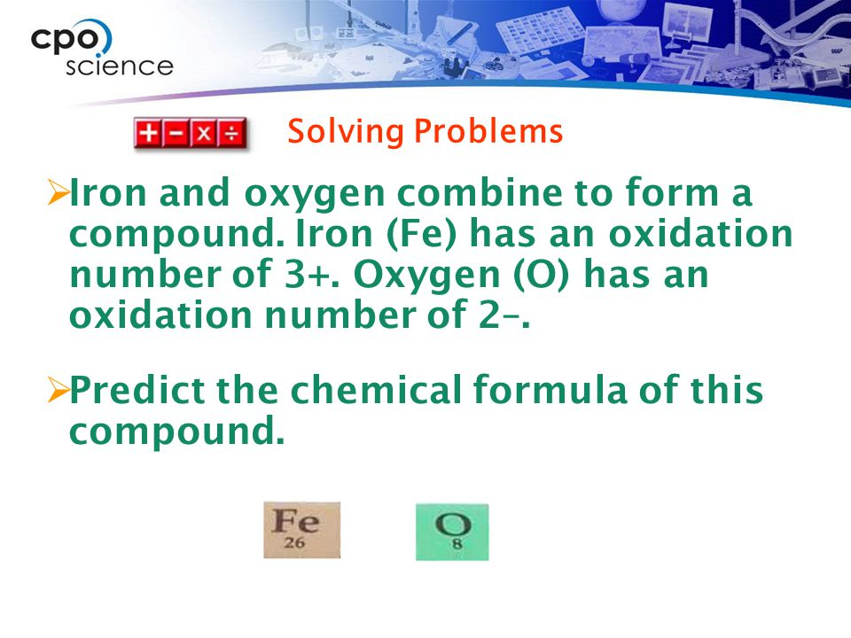 Predict the chemical formula of this compound.