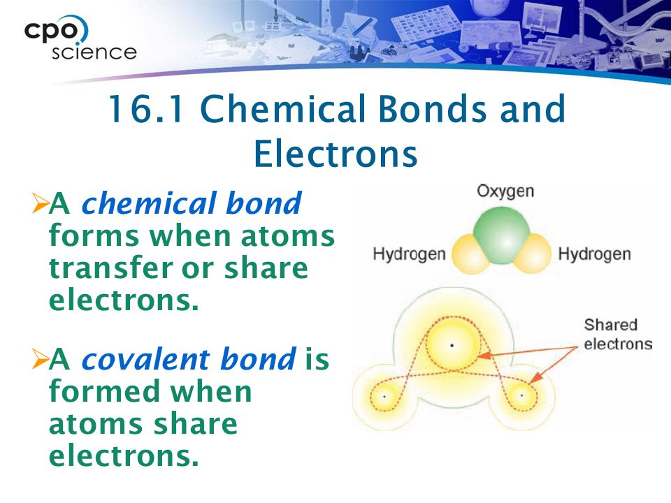 16.1 Chemical Bonds and Electrons