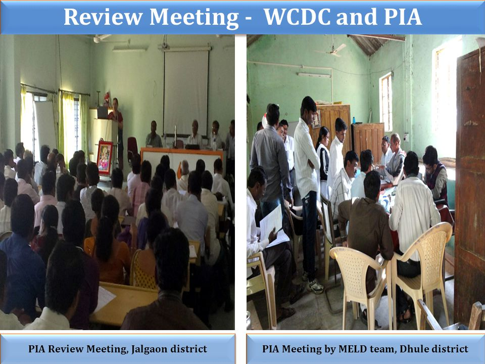 Review Meeting - WCDC and PIA