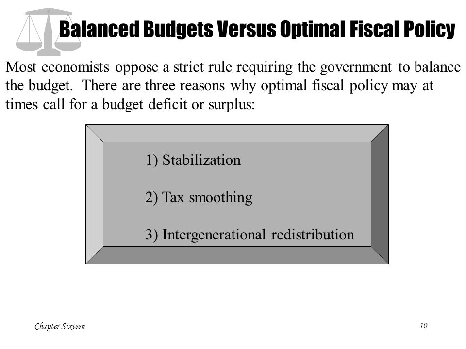Balanced Budgets Versus Optimal Fiscal Policy