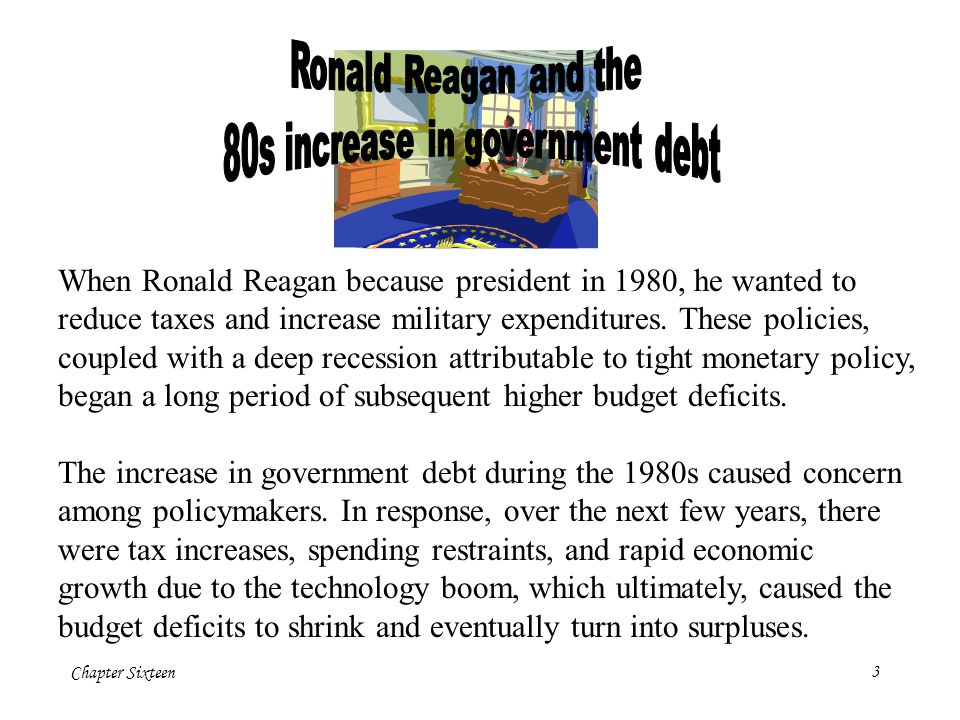 80s increase in government debt