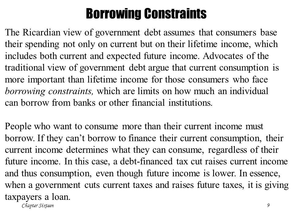 Borrowing Constraints