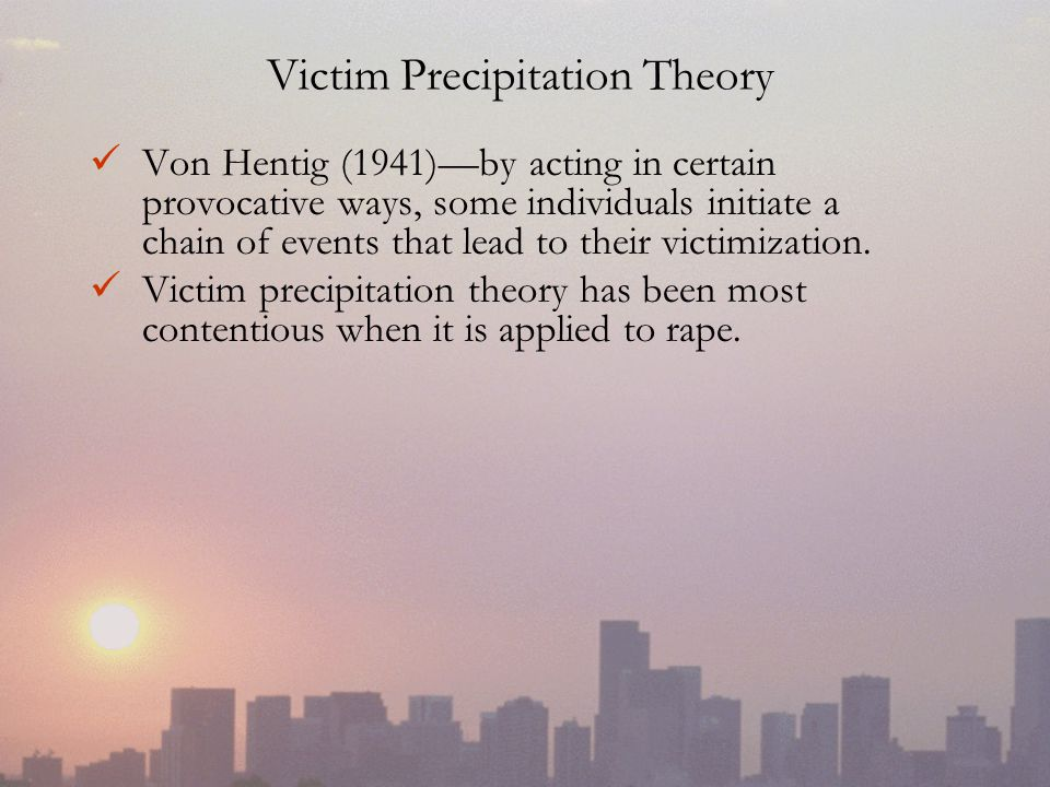 Victim Precipitation Theory