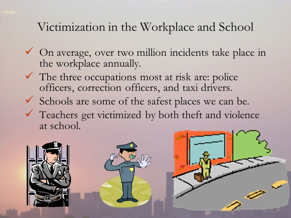 Victimization in the Workplace and School