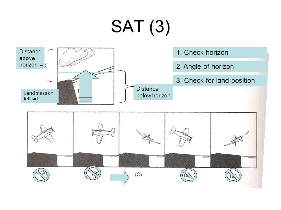 SAT (3) 1. Check horizon 2. Angle of horizon